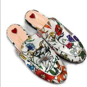 Gucci Floral Princeton Mules Slides
